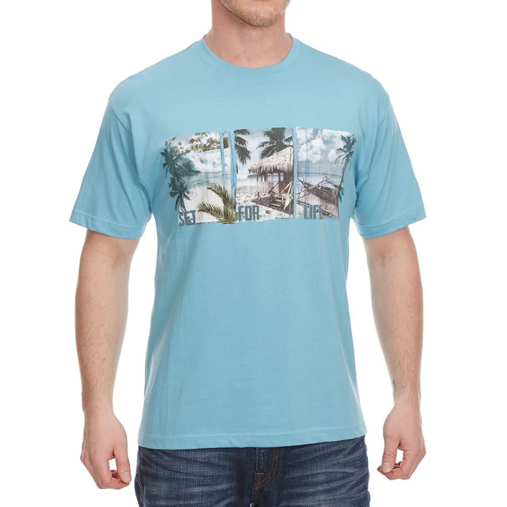NEWPORT BLUE Men's Set For Life Short Sleeve Tee - CLOUD BLUE - 477