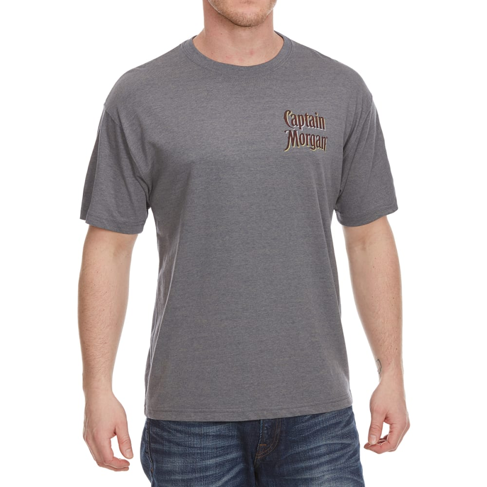 NEWPORT BLUE Men's Suns Out Rums Out Short Sleeve Tee - HTR MINERAL - 069