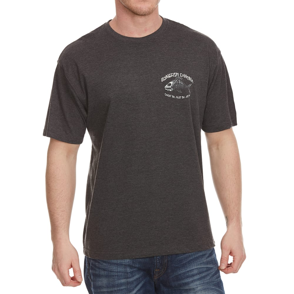 NEWPORT BLUE Men's Bonefish Cantina Short Sleeve Tee - HTR CHARCOAL- 022