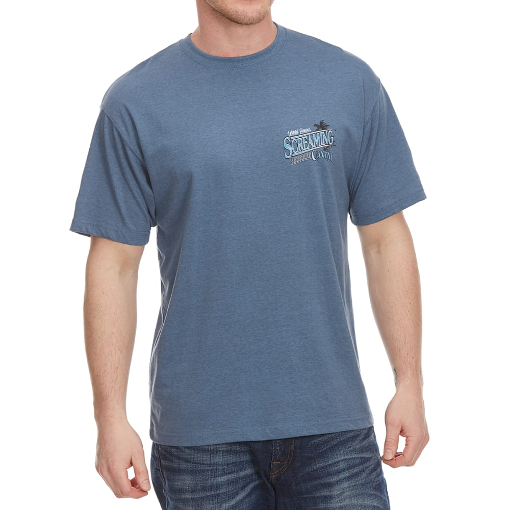 NEWPORT BLUE Men's Screaming Parrot Short Sleeve Tee - HTR OCEAN - 496