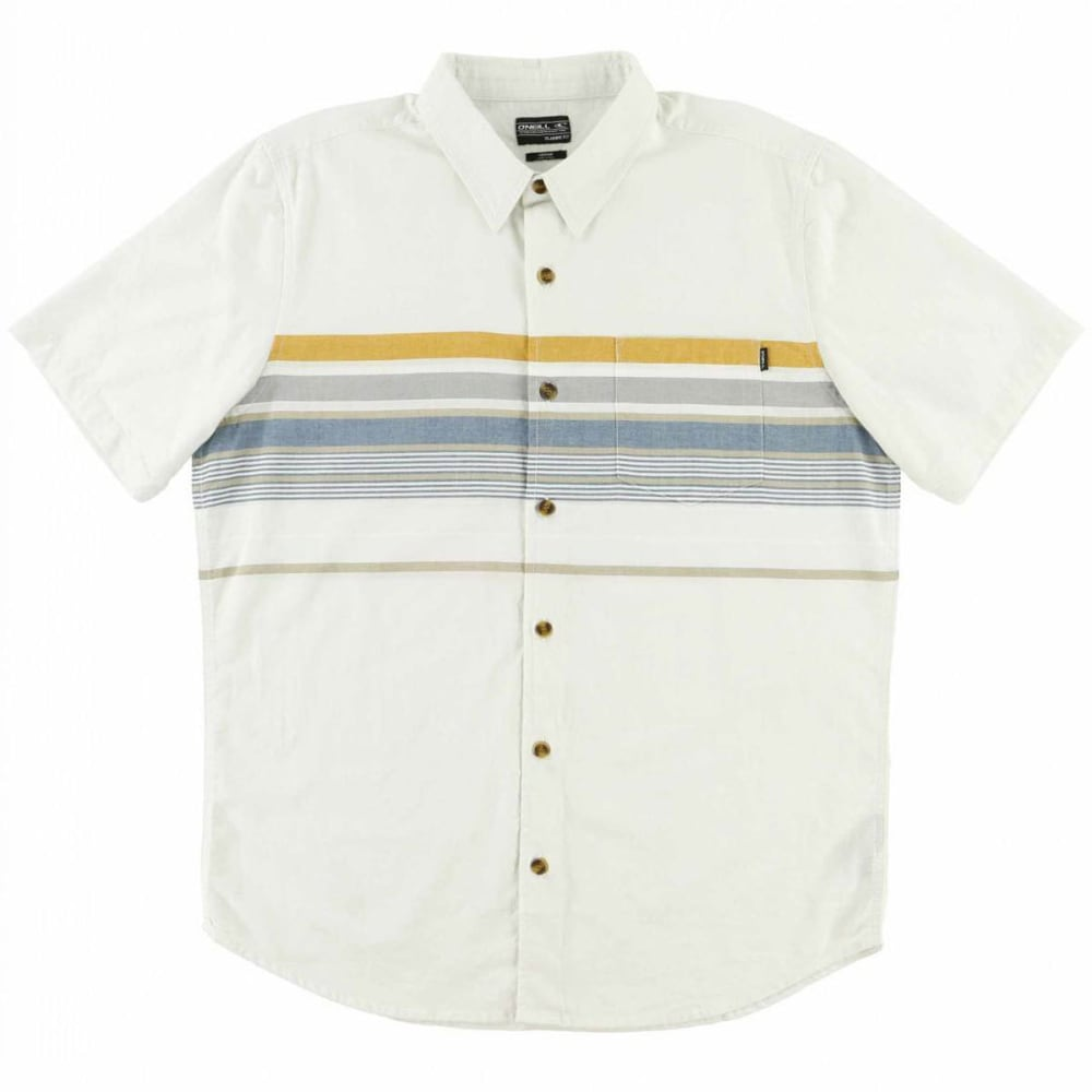O'neill Guys' Waters Woven Short-Sleeve Shirt - White, S