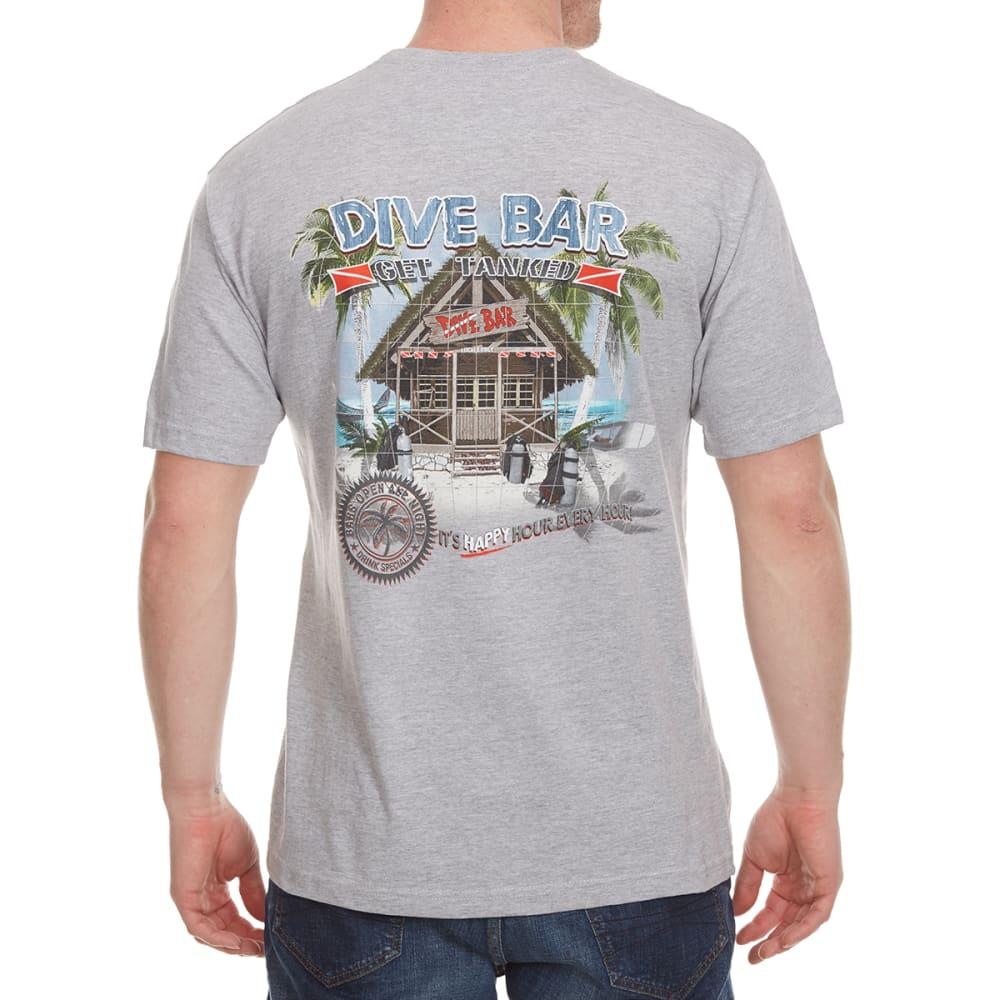 NEWPORT BLUE Men's Dive Bar Get Tanked Short Sleeve Tee - HTR FOG- 068