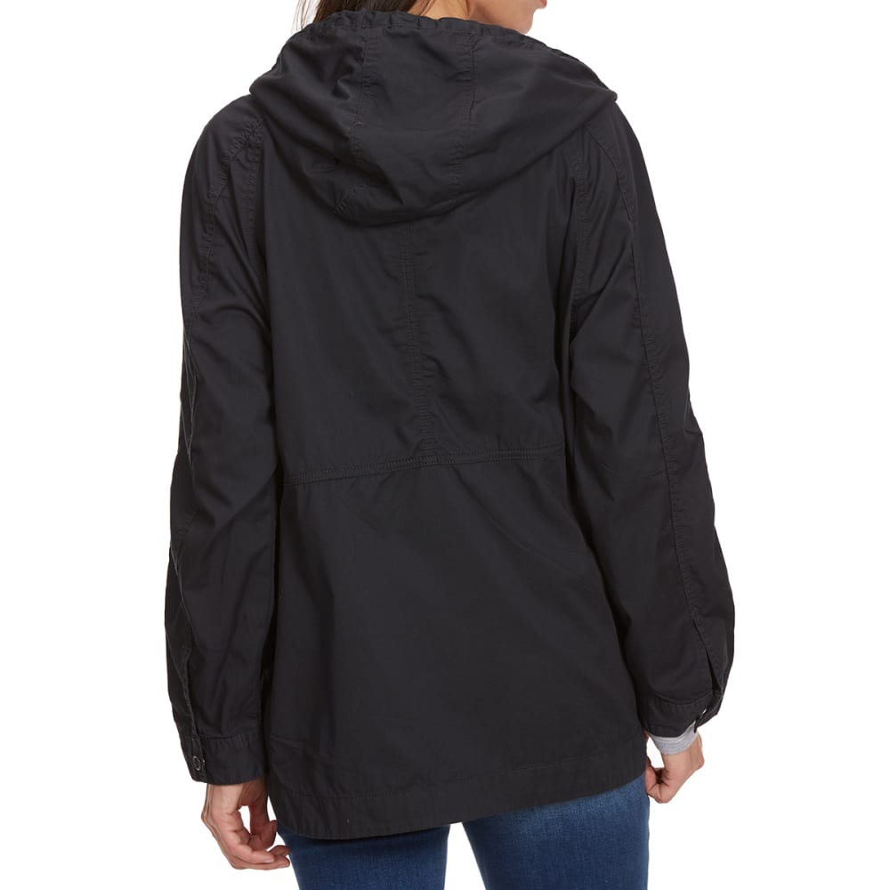 SUPPLIES BY UNIONBAY Women's Lexie Twill Hooded Jacket - 069J-DRK GALAXY GREY