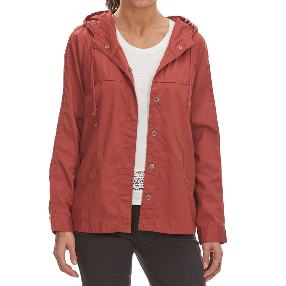 SUPPLIES BY UNIONBAY Women's Lexie Twill Hooded Jacket - 618J-RHUBARB