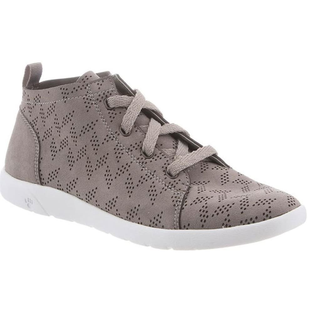 BEARPAW Women's Gracie Perfect High-Top Sneakers, Dove Grey - GREY