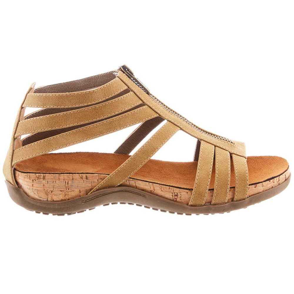 BEARPAW Women's Layla Zip Sandals, Tan - TAN