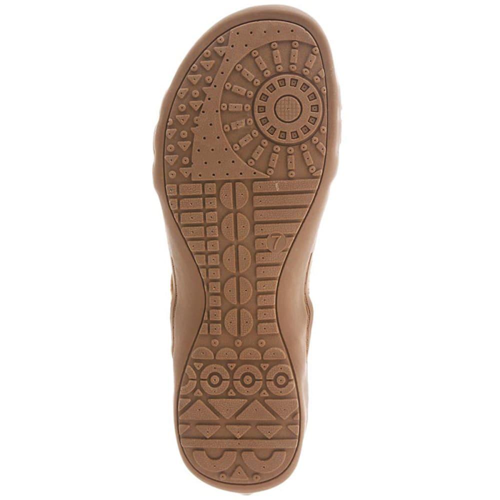 BEARPAW Women's Layla Zip Sandals, Tan - TAN