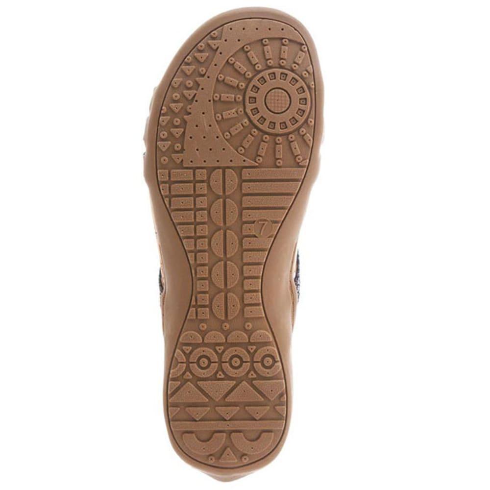BEARPAW Women's Layla Zip Sandals, Solid Black - BLACK II
