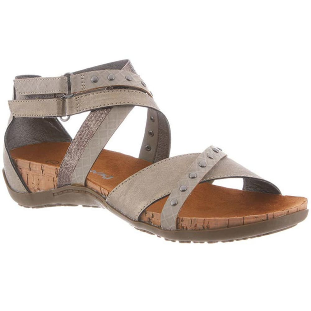 Bearpaw Women's Juliana Strap Sandals, Pewter - Black, 6