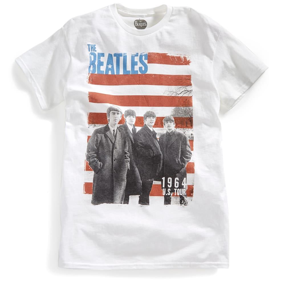HYBRID Guys' Beatles U.S. Tour Short-Sleeve Tee - WHITE