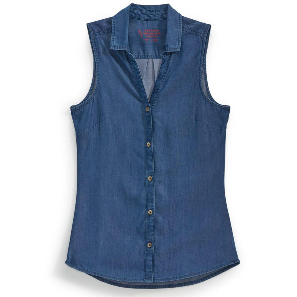 EMS® Women's Chambray Solid Short-Sleeve Shirt - MID DENIM WASH