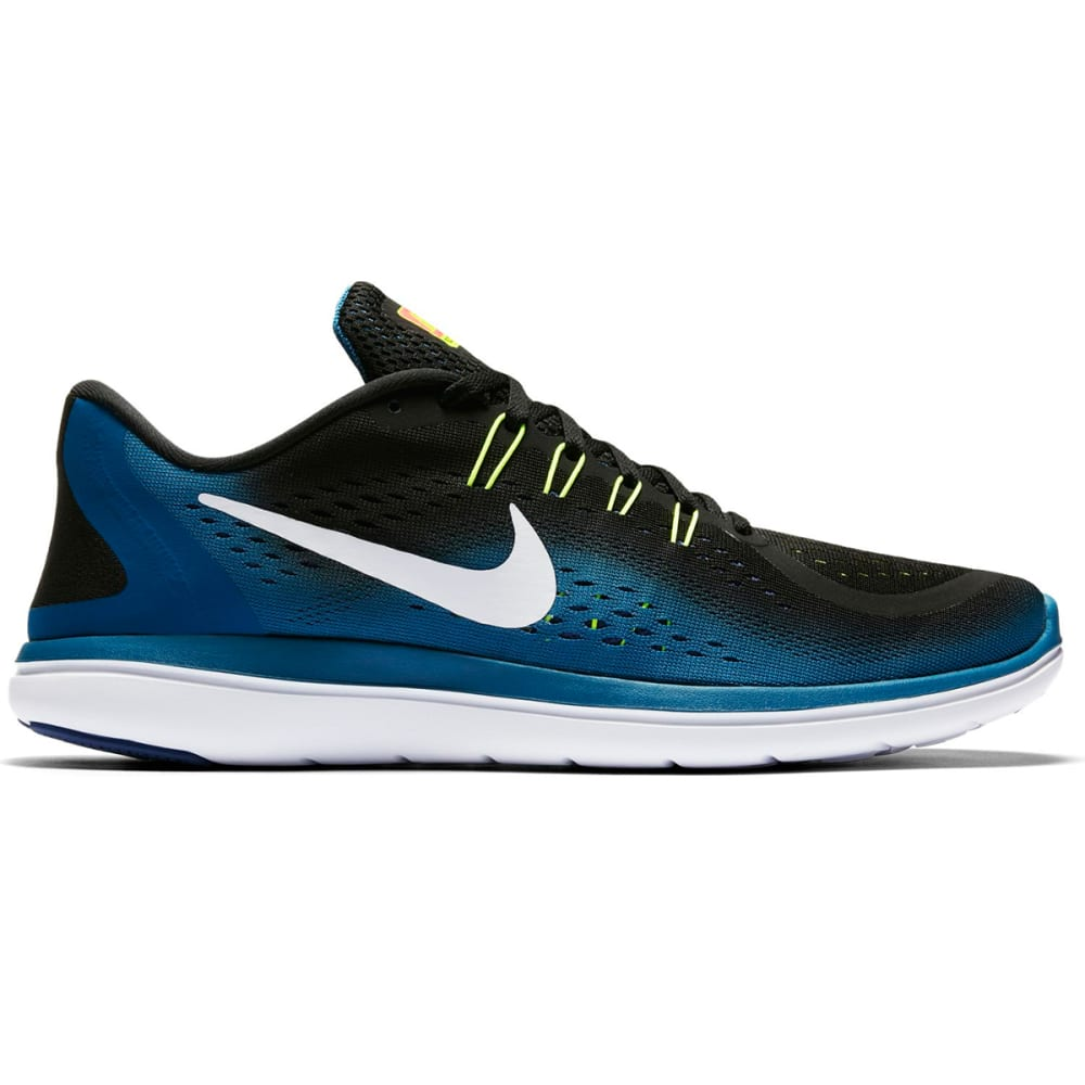 NIKE Men's Flex RN 2017 Running Shoes - BLACK