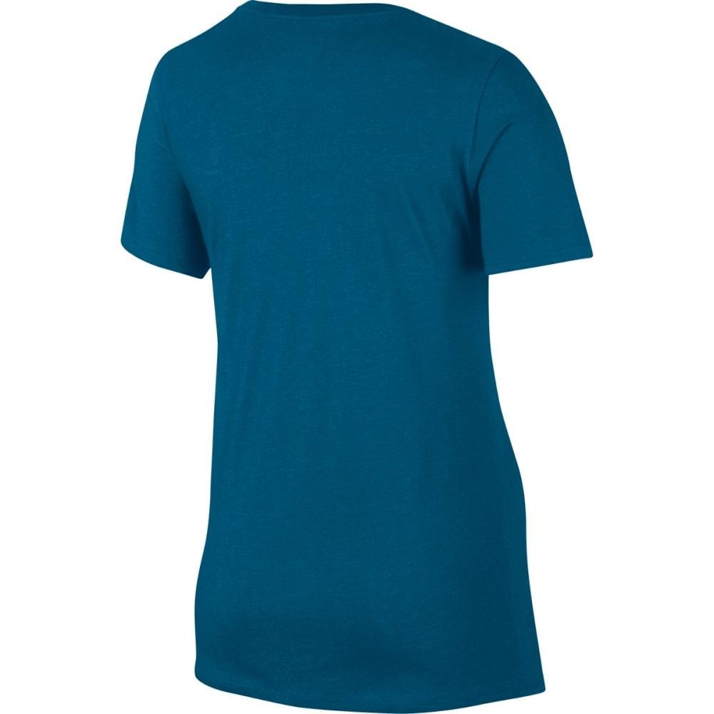 NIKE Women's Dry Training T-Shirt - IN BLUE/CHRL BL-457