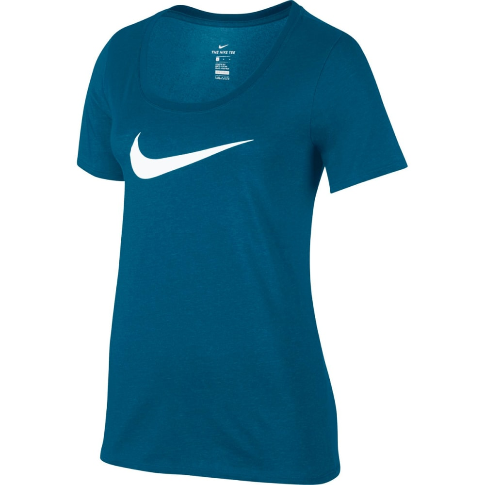 NIKE Women's Dry Training T-Shirt - IN BLUE/CHRL BL-457