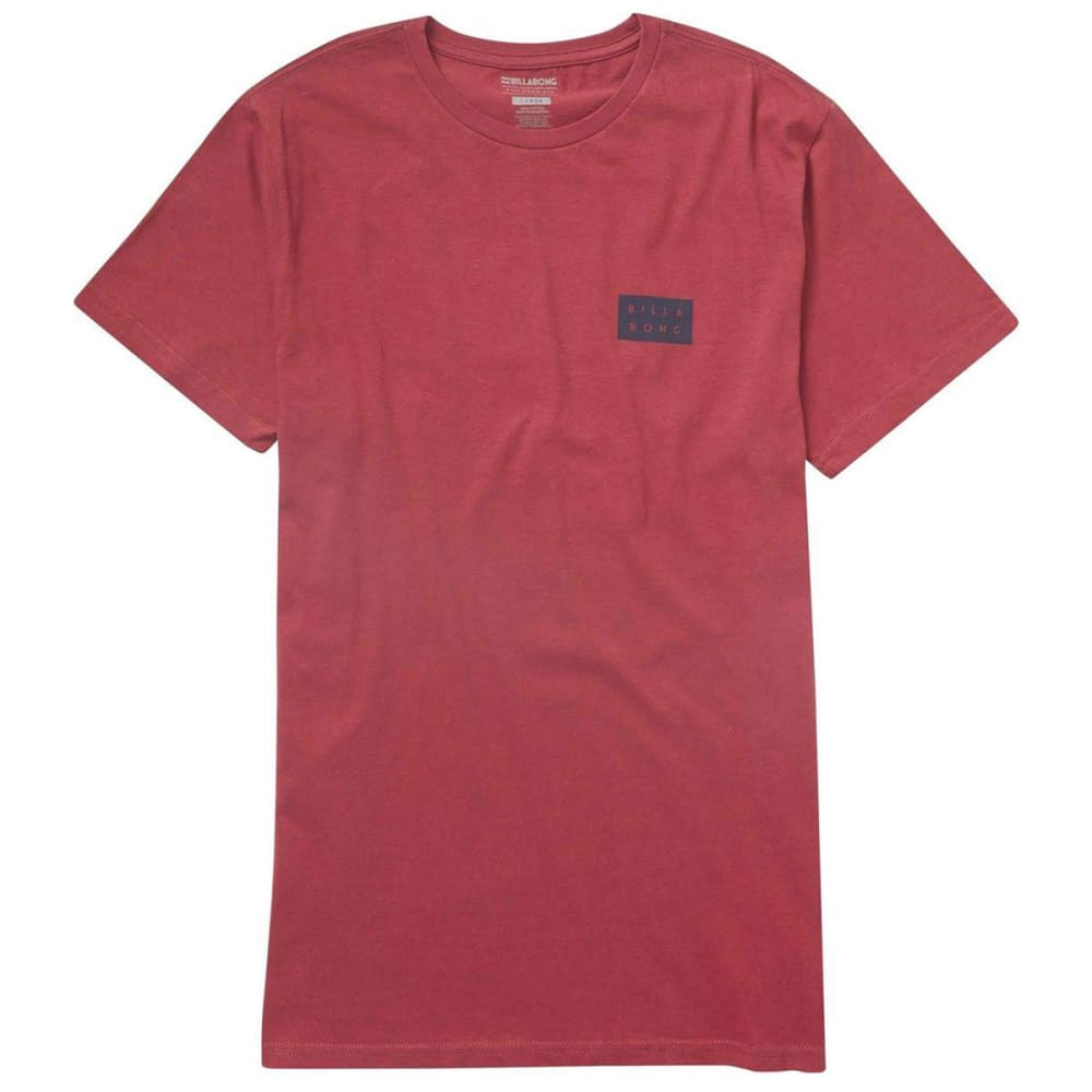 Billabong Guys Die-Cut Screen Short-Sleeve Tee - Red, S