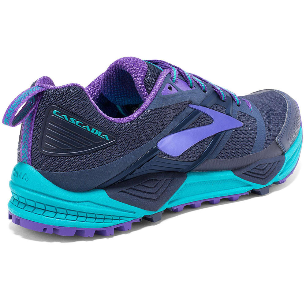 BROOKS Women's Cascadia 12 Trail Running Shoes, Peacoat/Passion Flower - PEACOAT-420