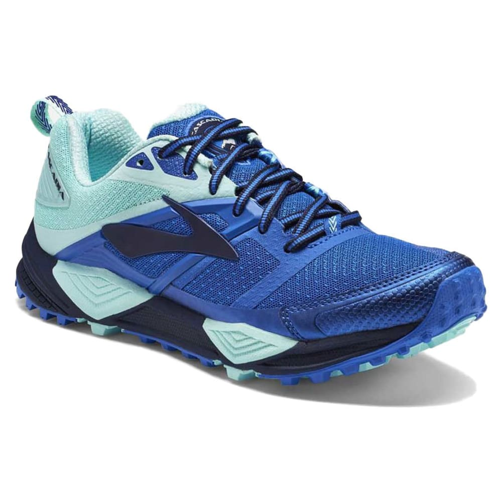 BROOKS Women's Cascadia 12 Trail Running Shoes, Peacoat/Passion Flower - NAVY-496