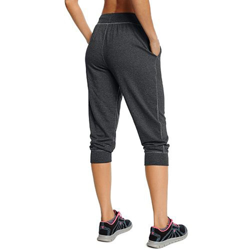 CHAMPION Women's French Terry Capri Pants - GRANITE HTR-G61