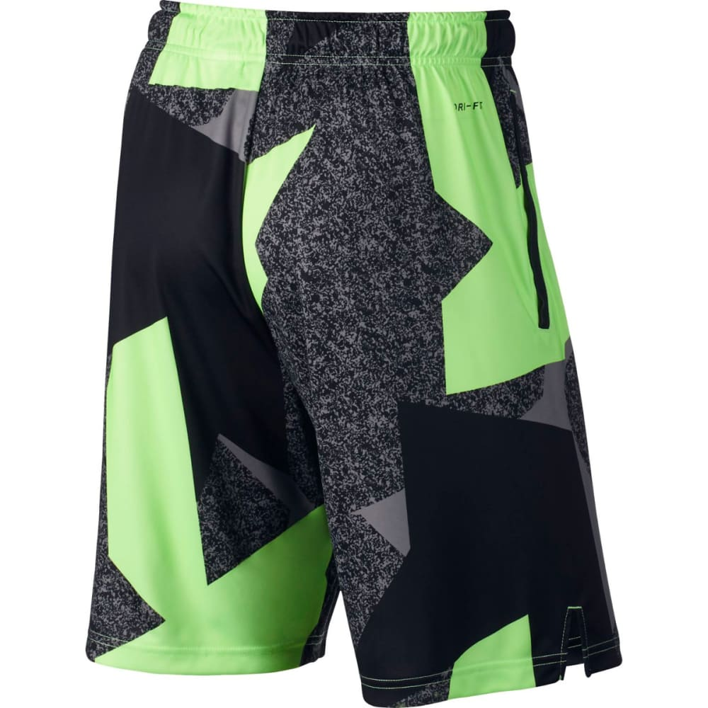 NIKE Men's 9 in. Dry Carbon Copy Printed Shorts - GHOST GRN/BLK-367