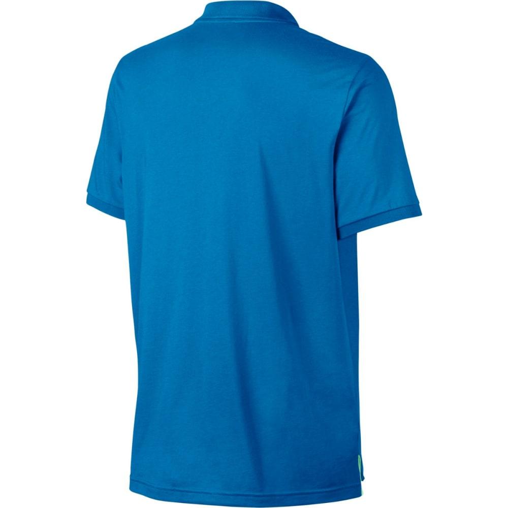 NIKE Men's NSW Matchup Jersey Short-Sleeve Polo Shirt - LTPHTBL/TRMLN-435