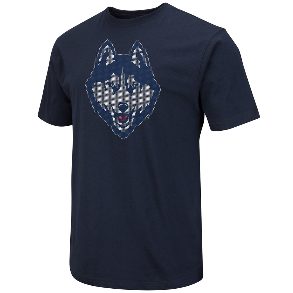 Uconn Men's 100% Cotton Short-Sleeve Tee - Blue, M