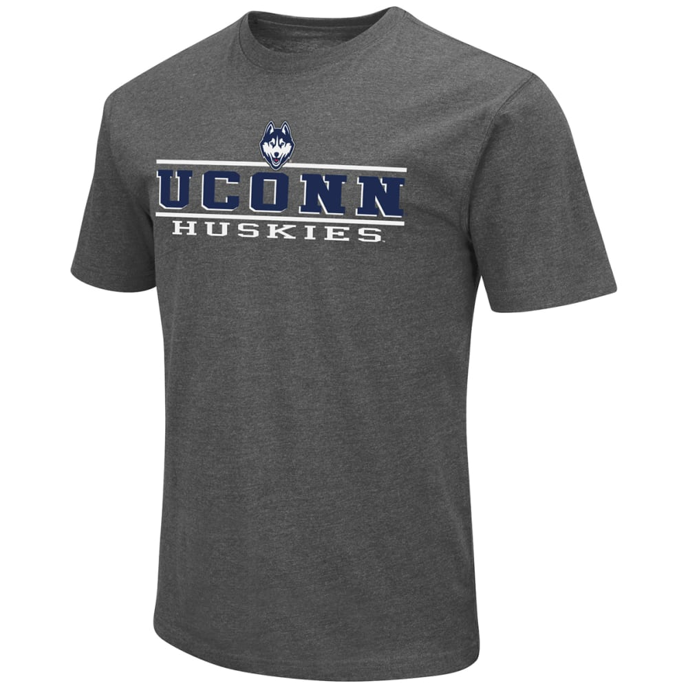 UCONN Men's 100% Cotton Short-Sleeve Tee - CHARCOAL