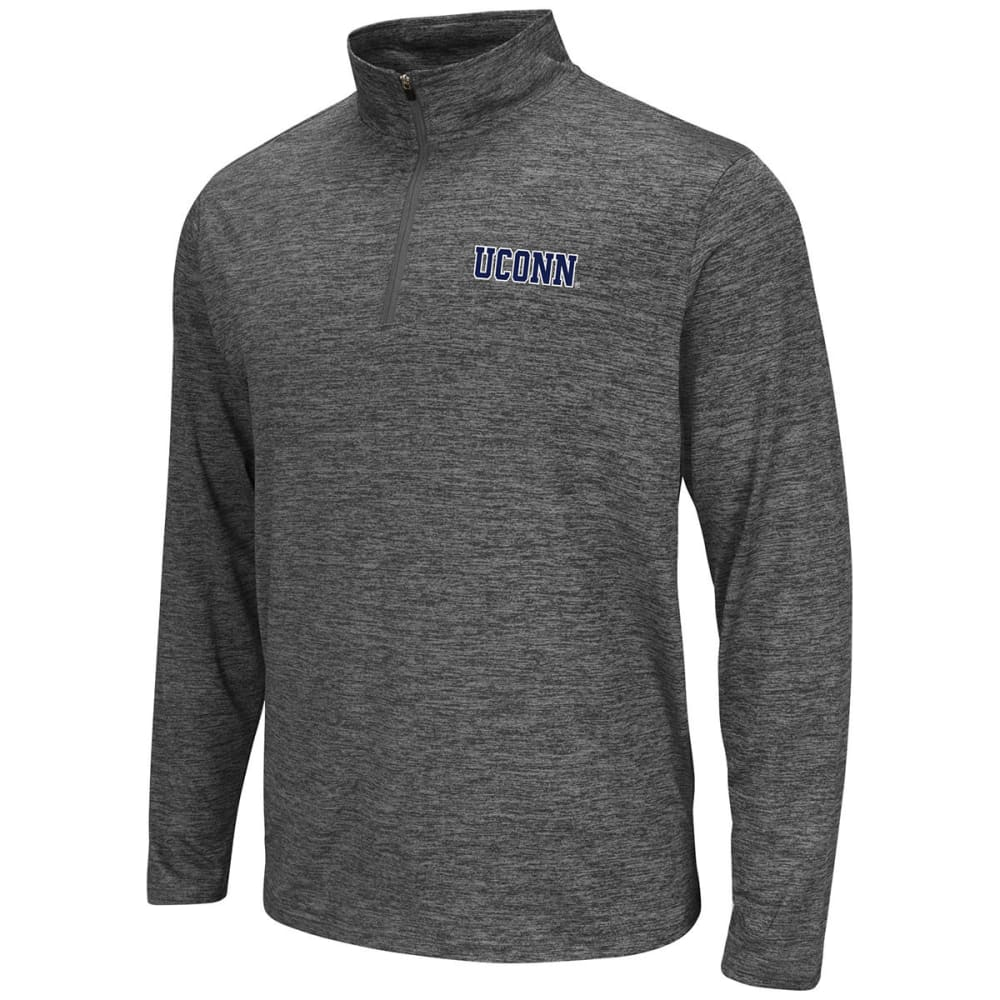 Uconn Men's Quarter-Zip Pullover - Black, L