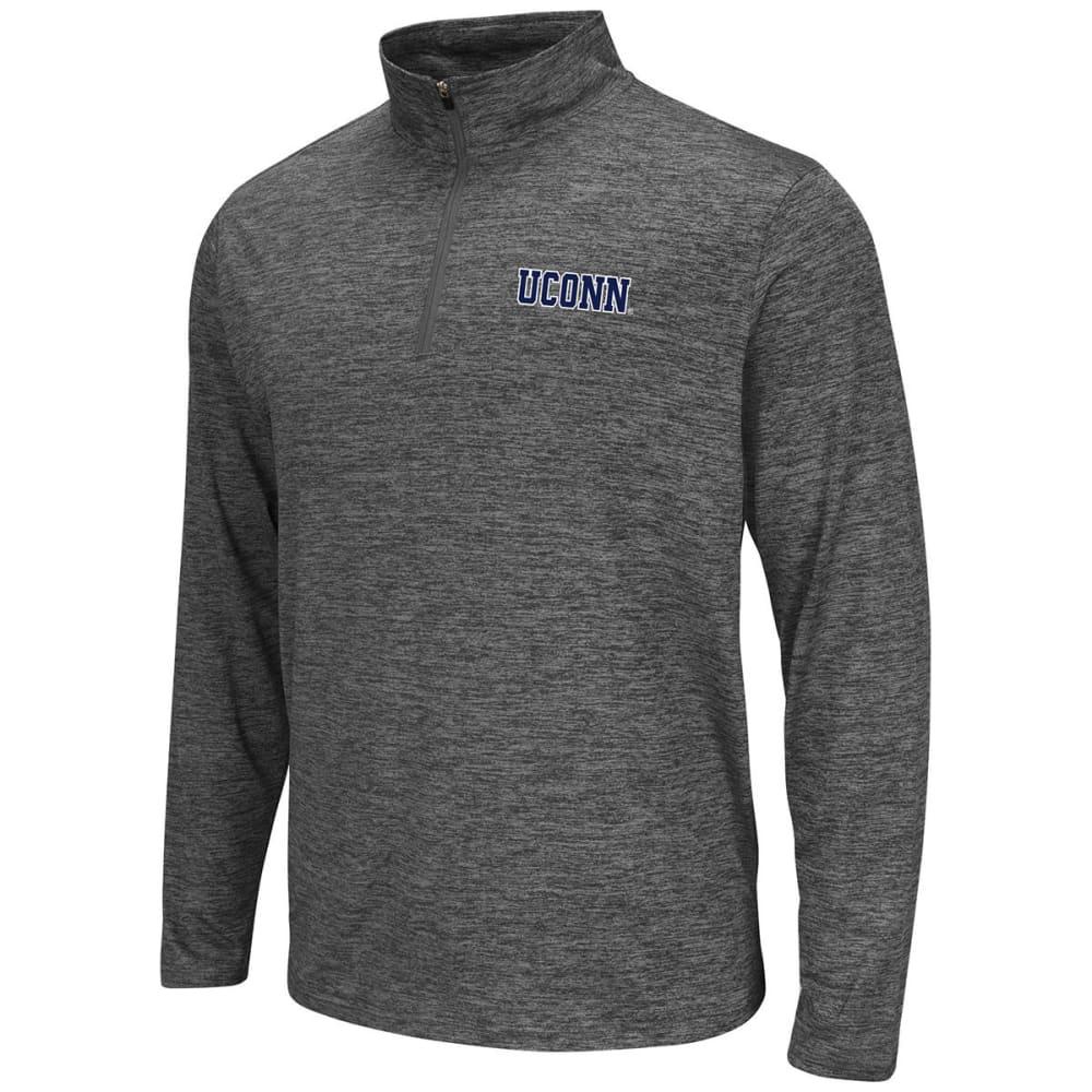 UCONN Men's Quarter-Zip Pullover - CHARCOAL