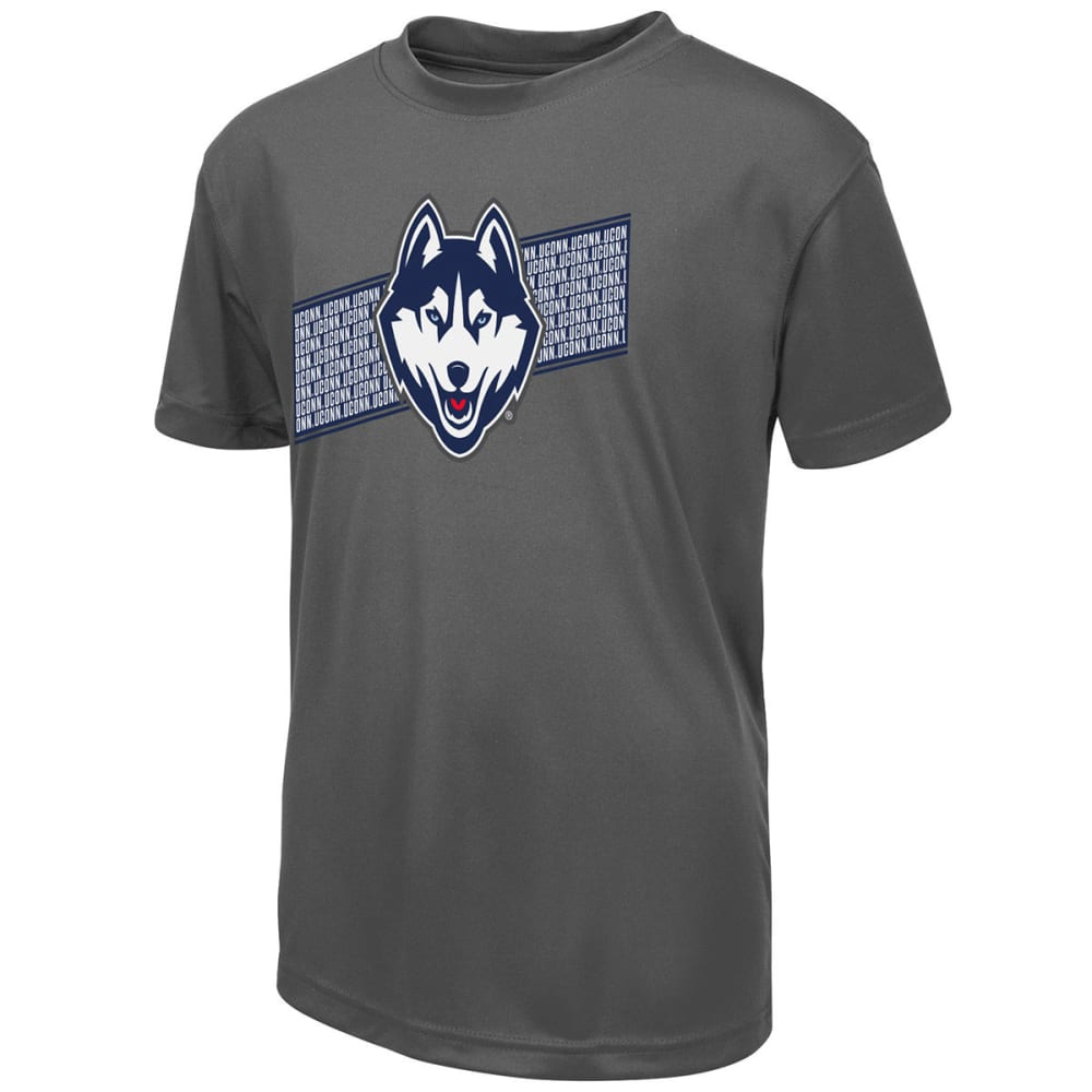 UCONN Kids' Poly Short-Sleeve Tee - CHARCOAL