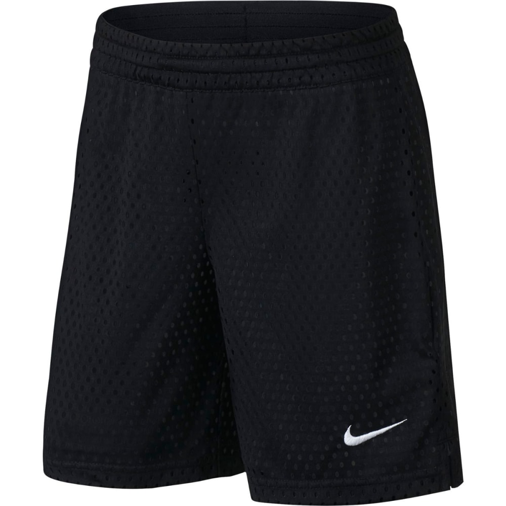 NIKE Kids' Dry Training Shorts - BLACK/WHITE-010