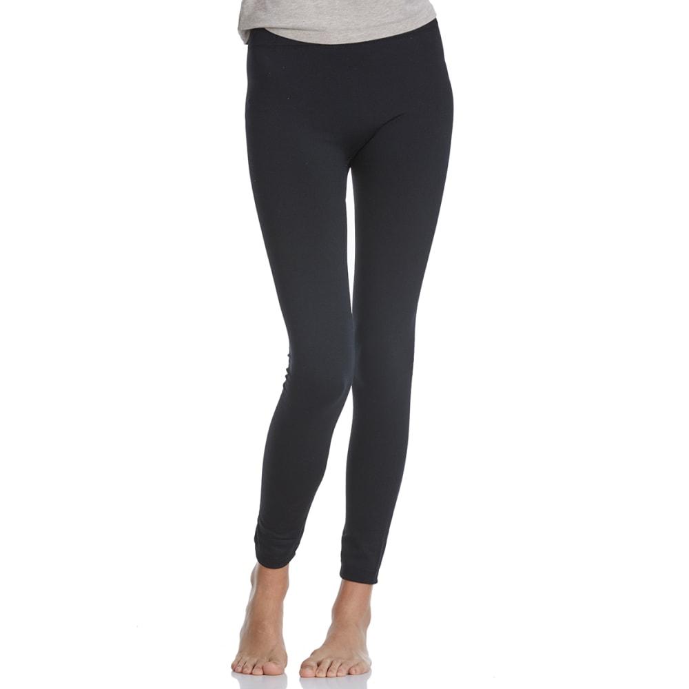 POOF Juniors' Solid Fleece-Lined Leggings - BLACK