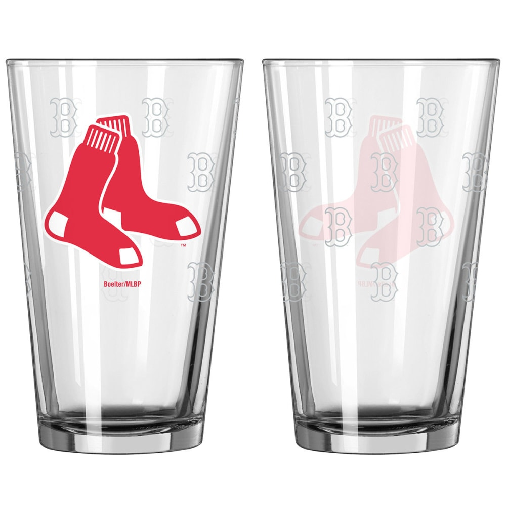 BOSTON RED SOX Satin Etch Pint Glass, 16 oz. NO SIZE