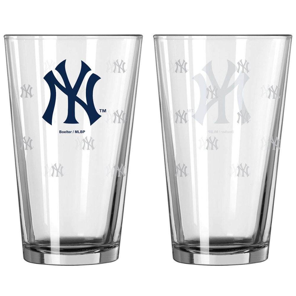 NEW YORK YANKEES Satin Etch Pint Glass, 16 oz. - YANKEES