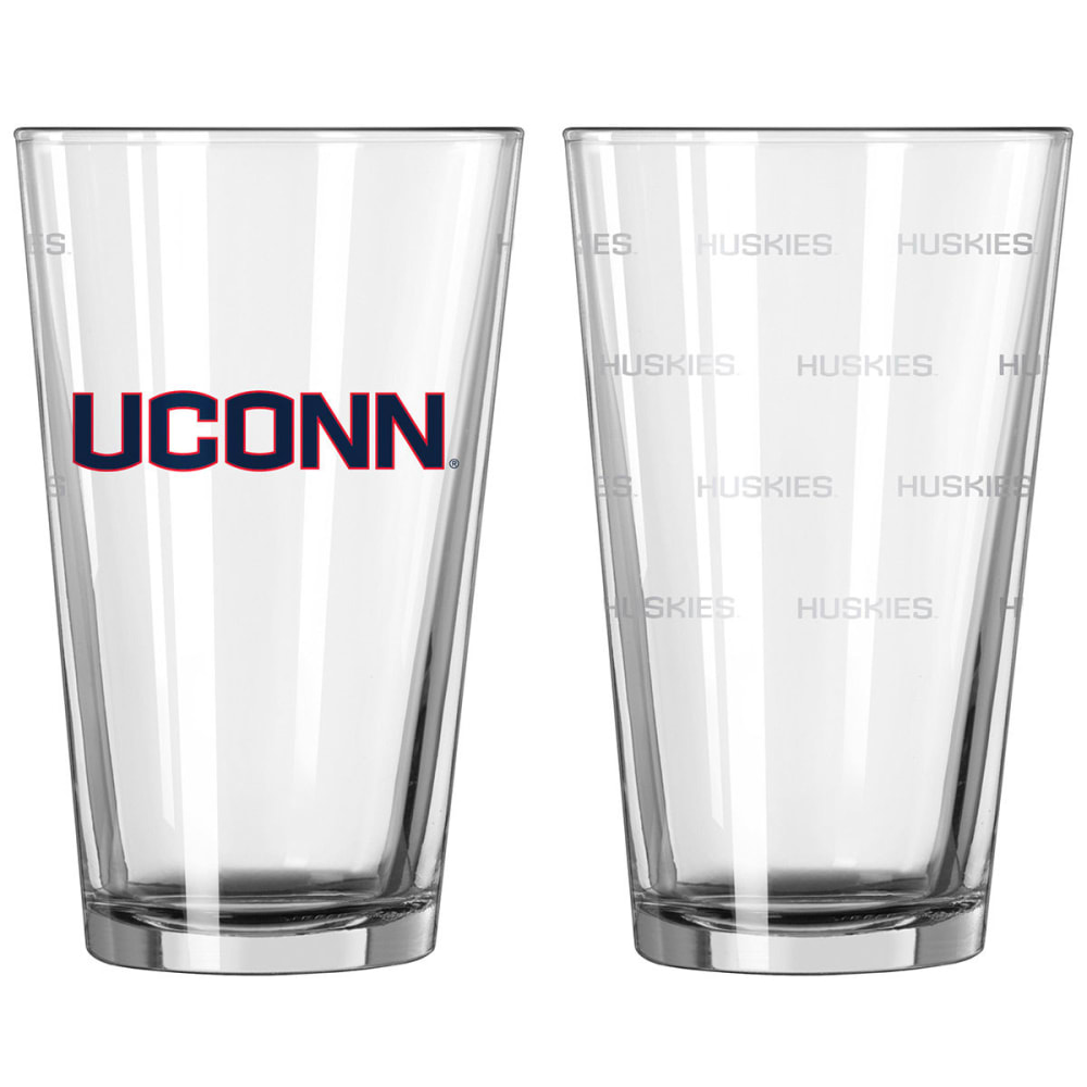 UCONN Satin Etch Pint Glass, 16 oz. - UCONN
