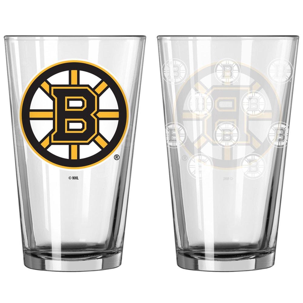 BOSTON BRUINS Satin Etch Pint Glass, 16 OZ. NO SIZE