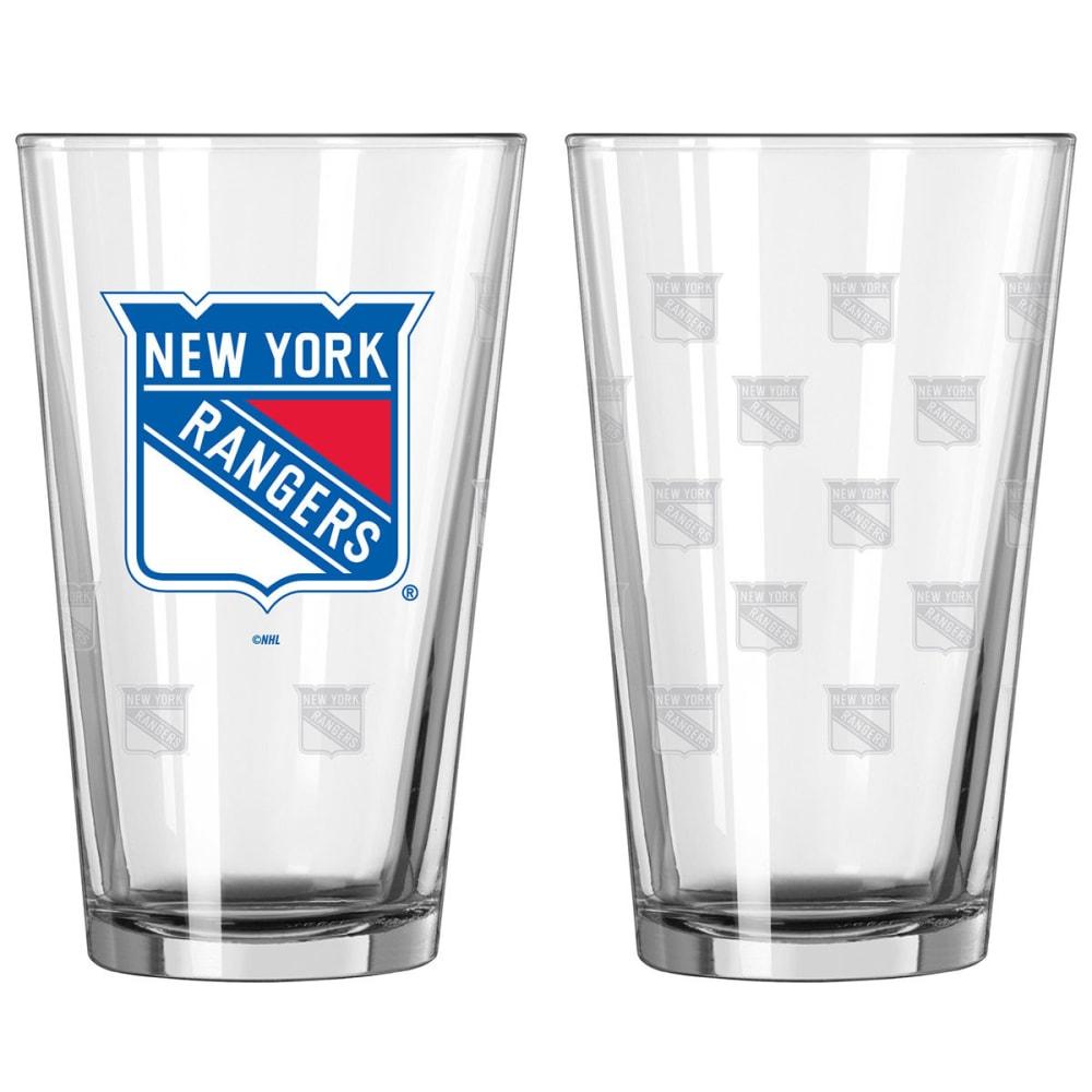 NEW YORK RANGERS Satin Etch Pint, 16 oz. - RANGERS