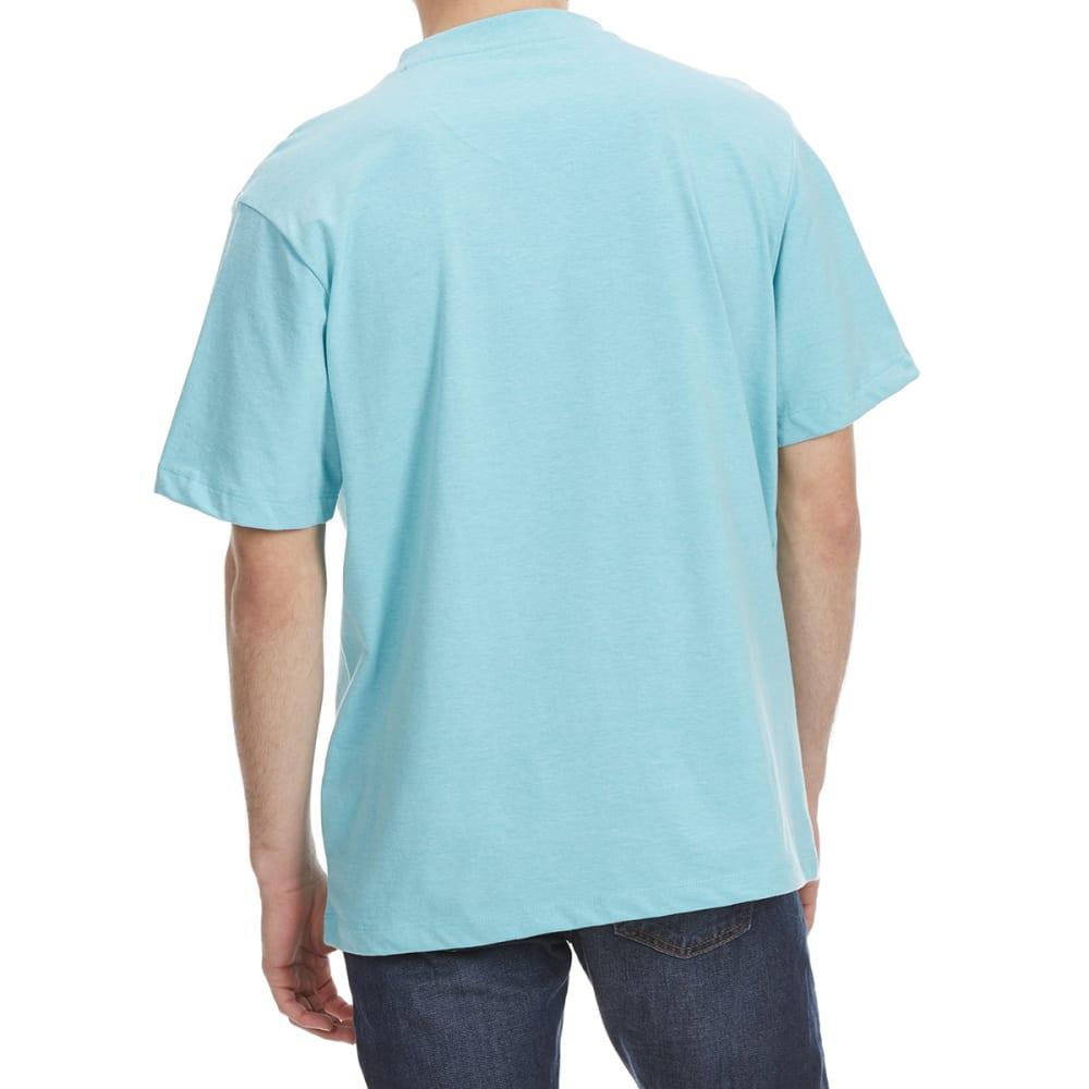 RUGGED TRAILS Men's V-Neck Solid Short Sleeve Tee - CAPRI BREEZE HTR