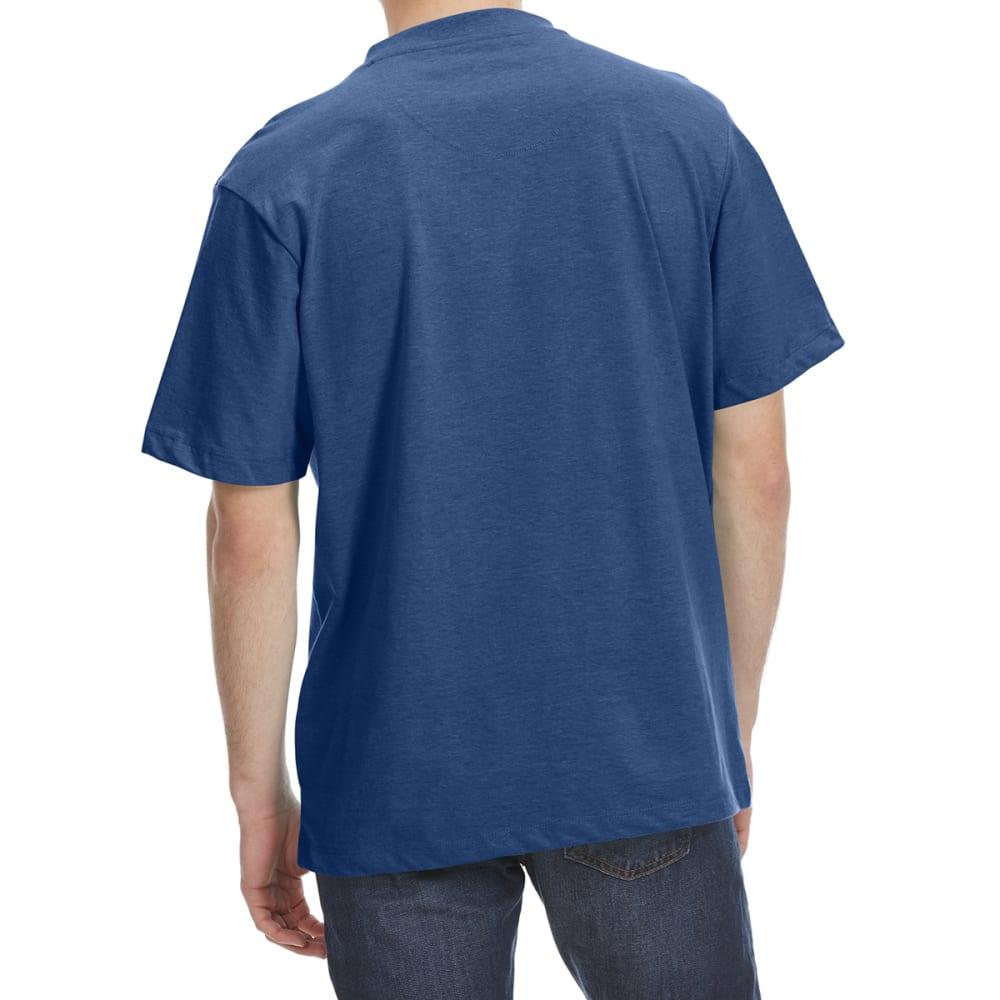 RUGGED TRAILS Men's V-Neck Solid Short Sleeve Tee - DENIM HTR