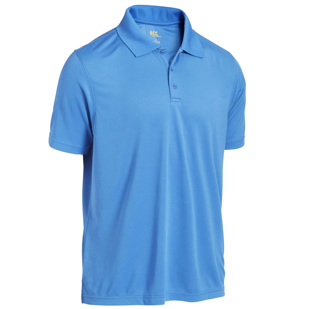 BCC Men's Mesh Polo - Blue, M