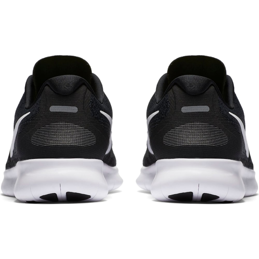 NIKE Women's Free RN 2017 Running Shoes - BLACK/WHITE