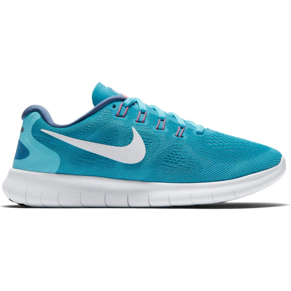 NIKE Women's Free RN 2017 Running Shoes - CHLORBLU/POLARBLU
