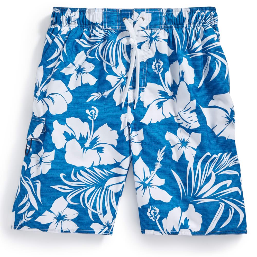 NEWPORT BLUE Men's Hot Lava Floral Swim Shorts - BLUE-0422