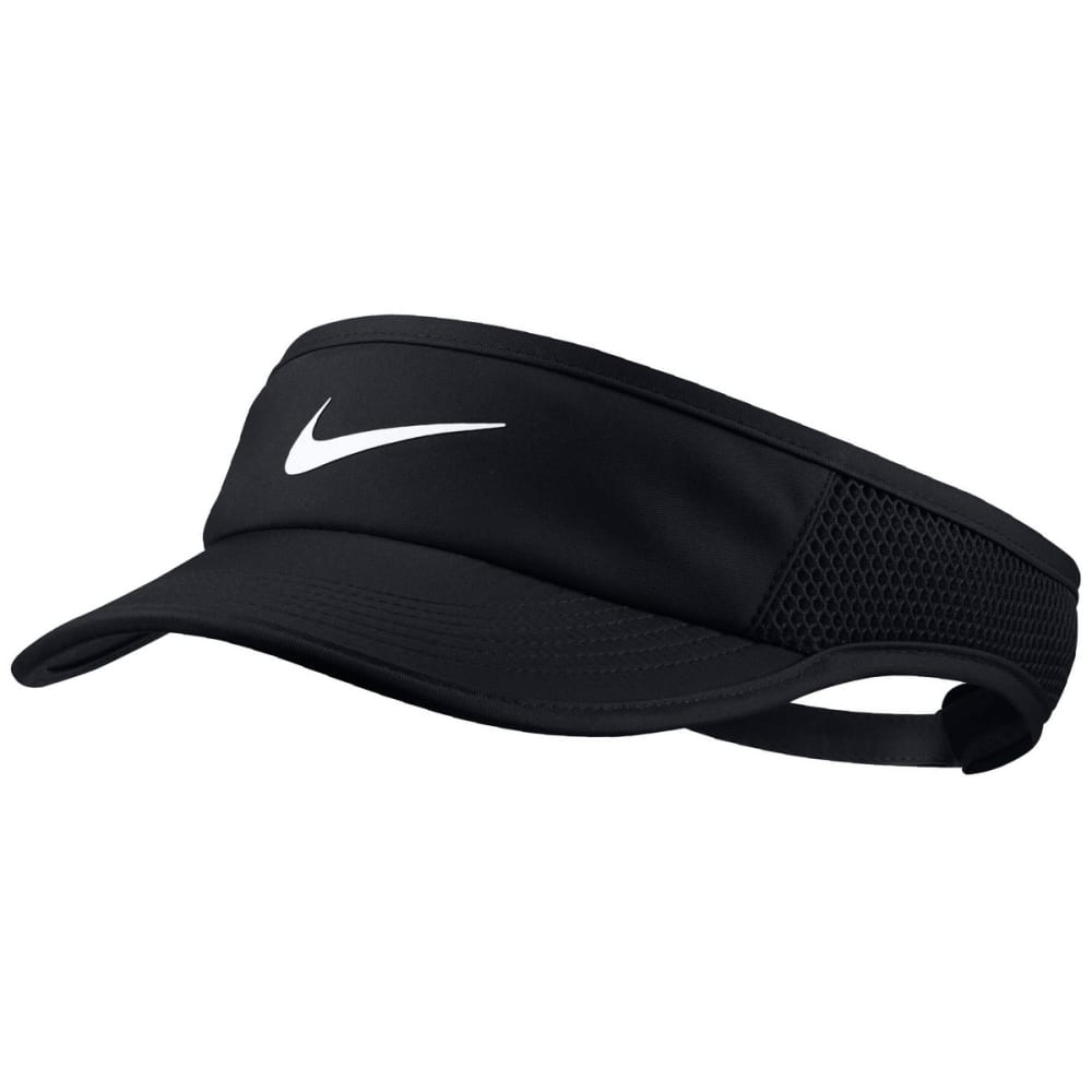 NIKE Women's NikeCourt Featherlite Tennis Visor - BLACK-010