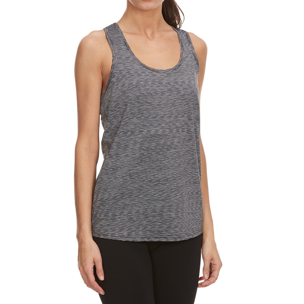 RBX Women's Space Dye Racer Back Tank - BLK/GRY