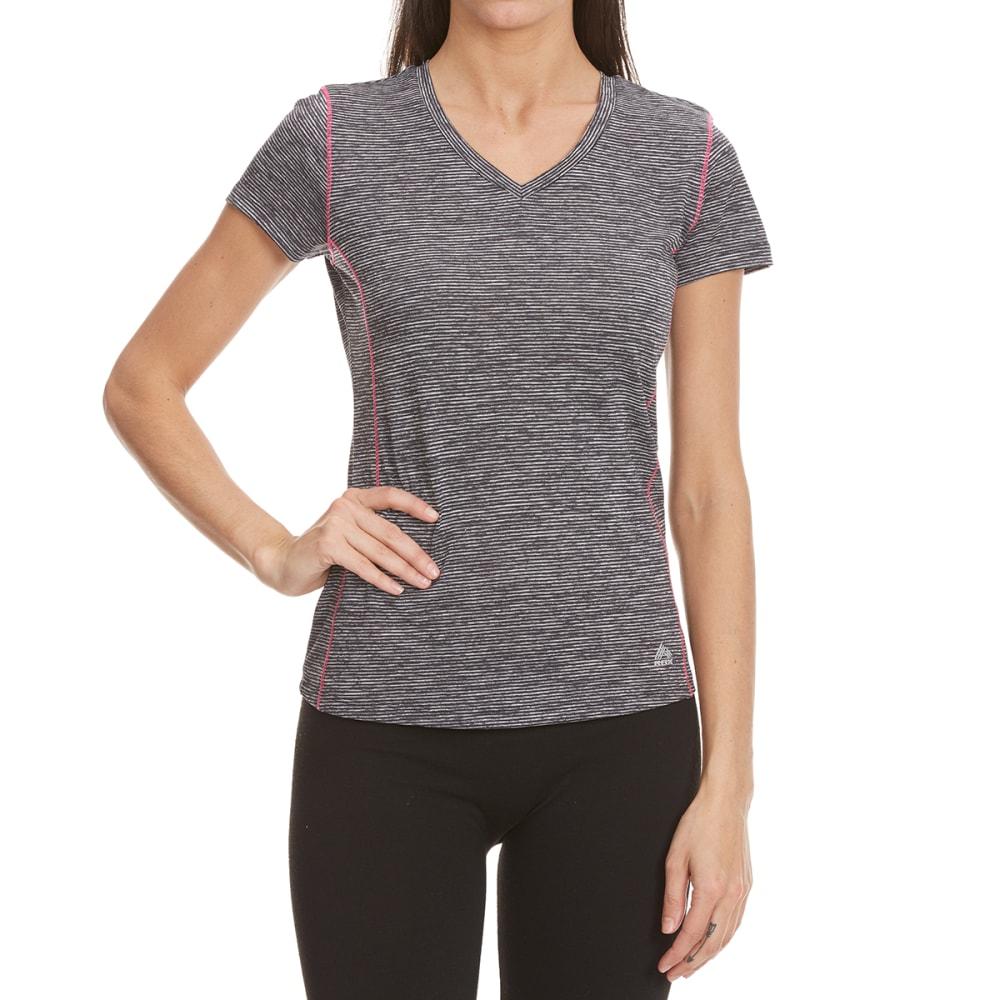 RBX Women's Space-Dye Poly Jersey Short-Sleeve Tee - BLK/HAWAIIAN PNK