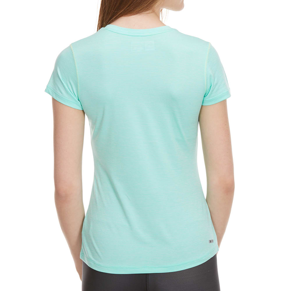 RBX Women's Space-Dye Poly Jersey Short-Sleeve Tee - AQUA GREEN