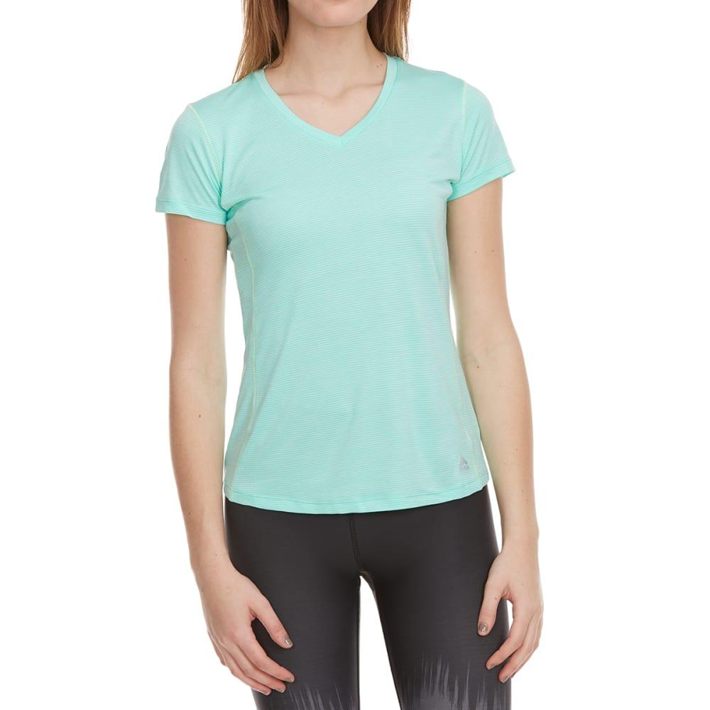 RBX Women's Space-Dye Poly Jersey Short-Sleeve Tee - AQUA GREEN