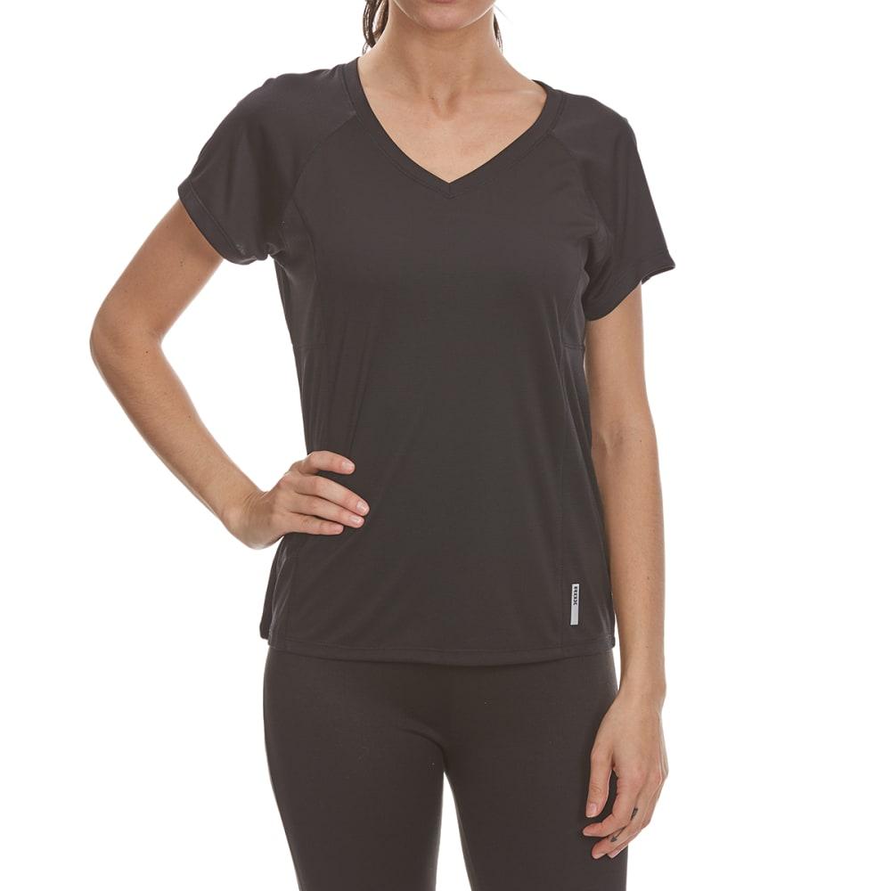 RBX Women's Jacquard Mesh with Insert Short-Sleeve Tee - BLACK