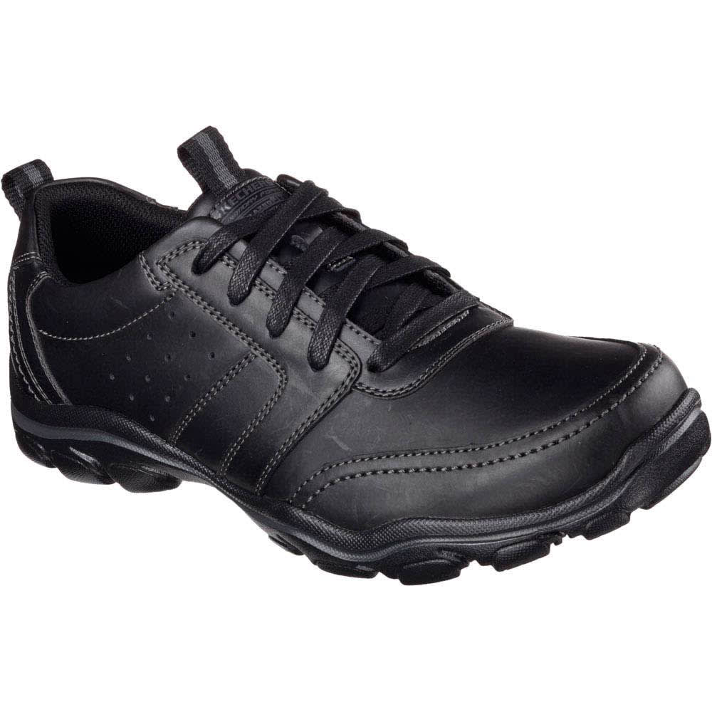 SKECHERS Men's Relaxed Fit: Montz – Brex Shoes - BLACK