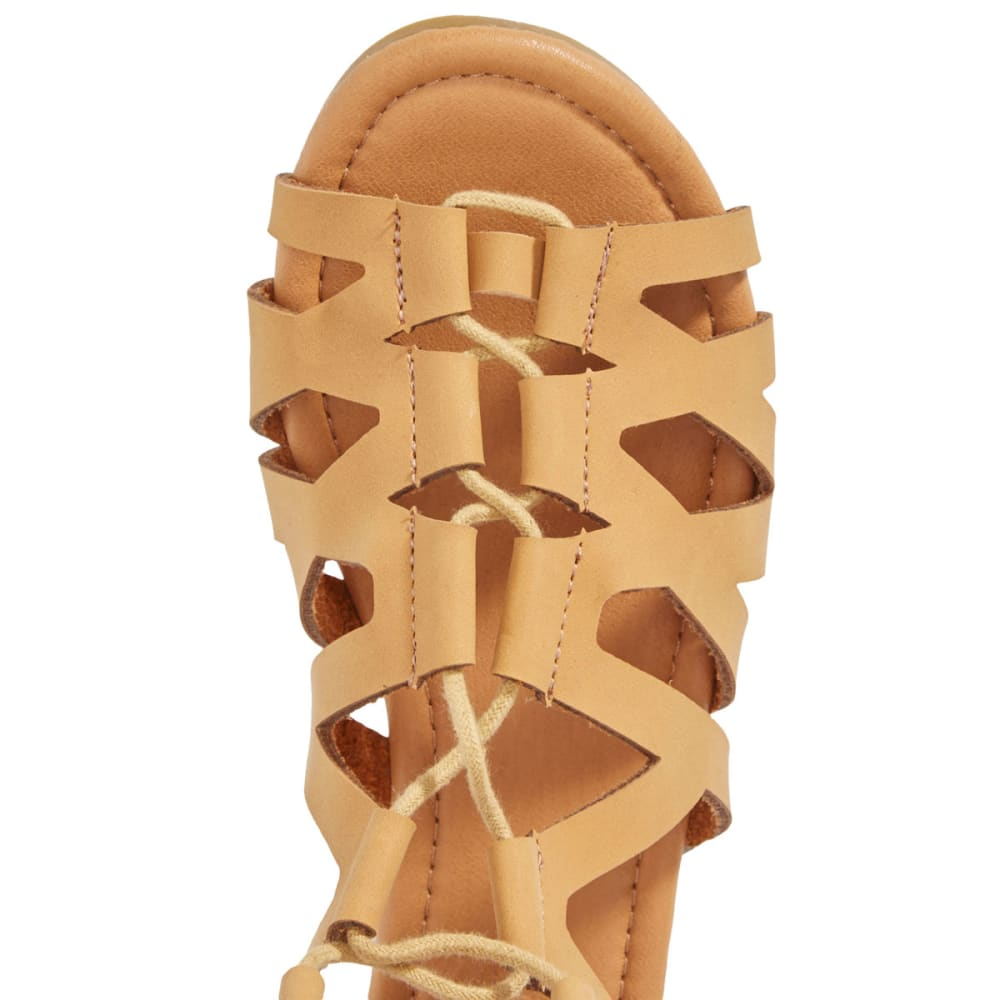 OLIVIA MILLER Women's Tall Lace-Up Gladiator Sandals, Natural - NATURAL